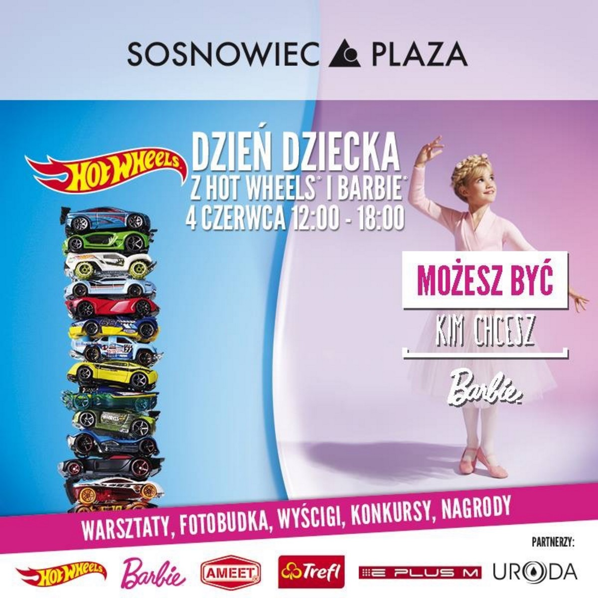 Plaza Sosnowiec Fotobudka Barbie Hot Wheels