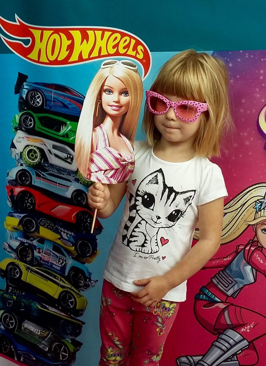 Barbie Hot Wheels Gadżety Fotobudka